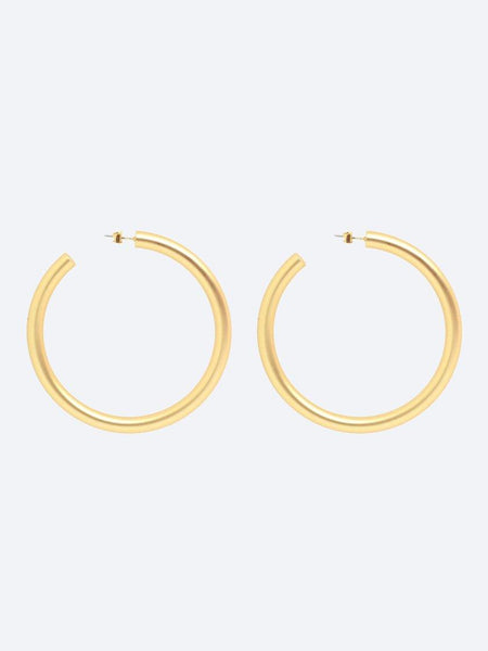 Yeltuor - BLING BAR - Accessories & Shoes - BLING BAR GRANDE HOOPS MATTE GOLD -  -