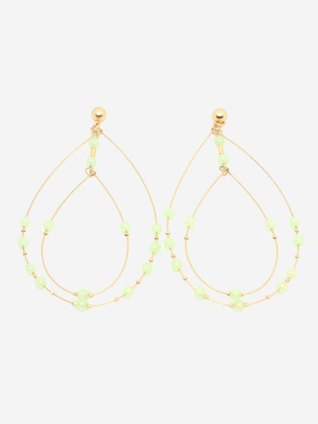 Yeltuor - BLING BAR - JEWELLERY - BLING BAR PORTOFINO EARRINGS - GOLD /MINT -  N/A