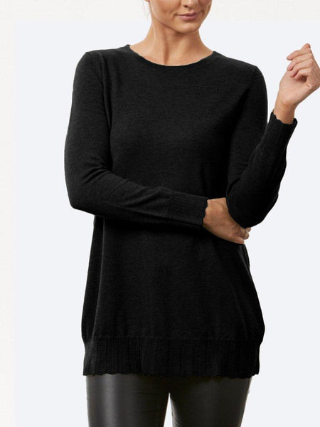 BRIDGE & LORD SHAPED TUNIC WITH COWL NECK
