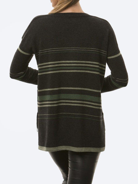 Yeltuor - BRIDGE AND LORD - Knitwear - BRIDGE & LORD STRIPE BOAT NECK KNIT -  -