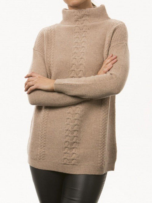Yeltuor - BRIDGE AND LORD - Knitwear - BRIDGE & LORD MERINO/ALPACA CENTRE CABLE KNIT -  -