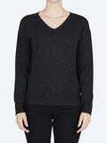 Yeltuor - BRIDGE AND LORD - Knitwear - BRIDGE AND LORD MERINO/CASHMERE FASHION V NECK PULLOVER - CHARCOAL -  S
