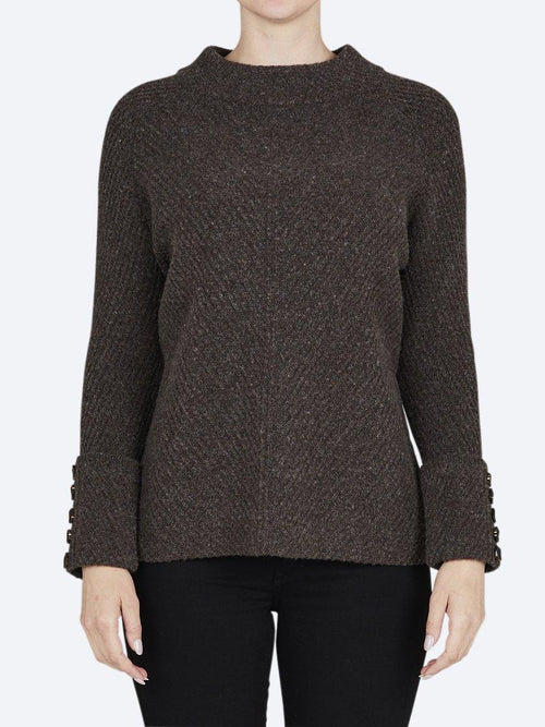 Yeltuor - BRIDGE AND LORD - Knitwear - BRIDGE & LORD MERINO/CASHMERE HIGH NECK RIB SWEATER -  -