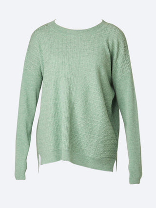 Yeltuor - BRIDGE AND LORD - Knitwear - BRIDGE & LORD ALL OVER CABLE PULLOVER - BASIL -  S