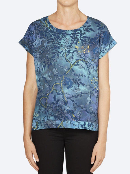 Yeltuor - CAKE - Tops - CAKE VICKY ROUND NECK - FOREST FLOWER -  XS