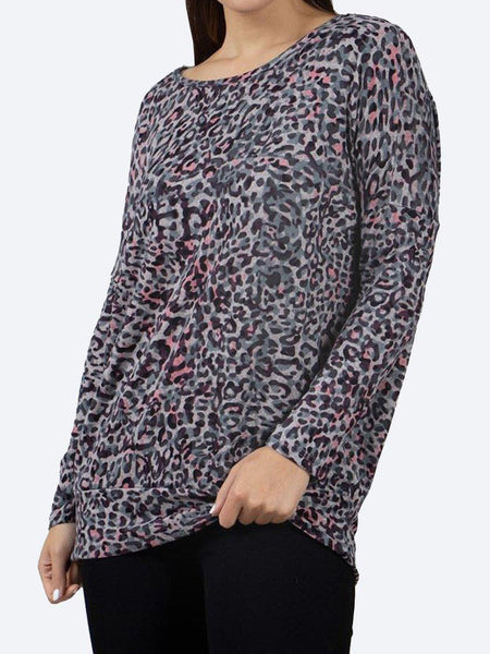 Yeltuor - CAROLINE K MORGAN PTY LTD - Tops - CAROLINE K MORGAN LONG SLEEVE ANIMAL PRINT TOP -  -