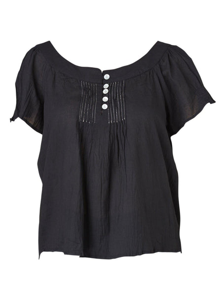 Yeltuor - CAKE/HB STUDIOS - Tops - CAKE MARILYN TOP - BLACK -  S