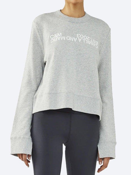Yeltuor - CAMILLA AND MARC - Tops - CAMILLA AND MARC C&M JAMES LOGO CREW - GREY MARLE -  6