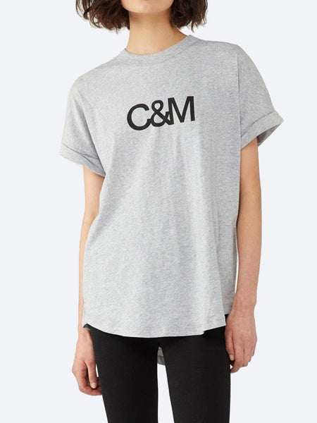 Yeltuor - CAMILLA AND MARC - Tops - C&M BY CAMILLA AND MARC HUNTINGTON TEE - GREY MARLE -  6