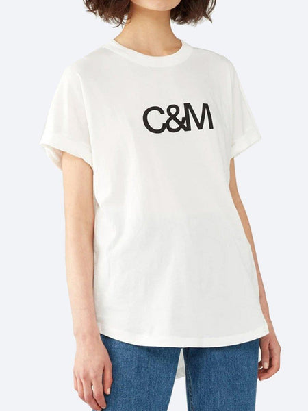 Yeltuor - CAMILLA AND MARC - Tops - C&M BY CAMILLA AND MARC HUNTINGTON TEE - WHITE -  6
