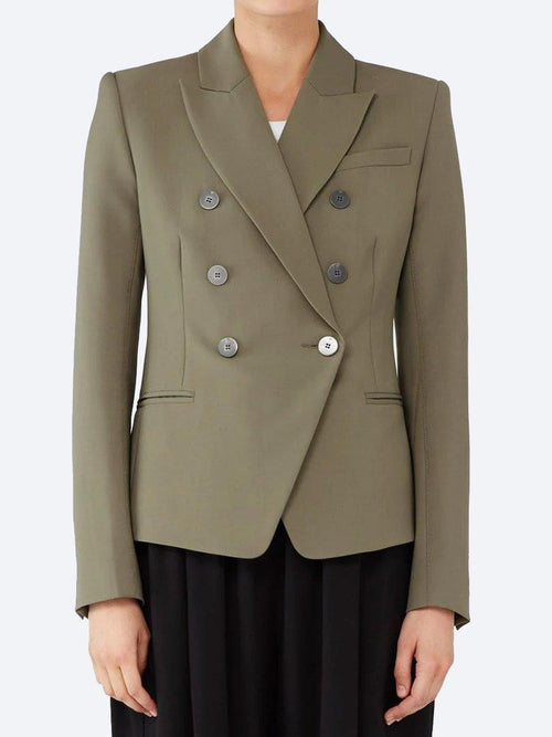Yeltuor - CAMILLA AND MARC - Jackets & Coats - CAMILLA AND MARC BLAKE DIMMER BLAZER - KHAKI -  6