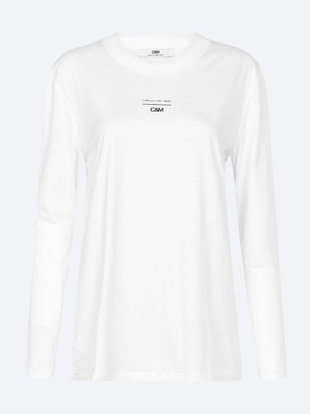 Yeltuor - CAMILLA AND MARC - Tops - C&M by CAMILLA AND MARC AGNES L/S TEE - WHITE -  6