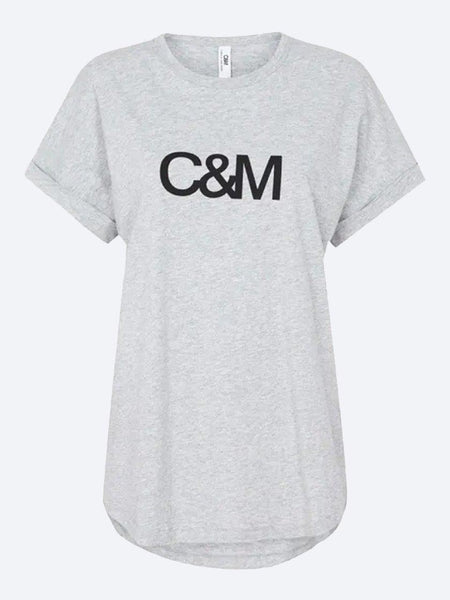 Yeltuor - CAMILLA AND MARC - Tops - C&M by CAMILLA AND MARC HUNTINGTON LOGO SLUB TEE -  -