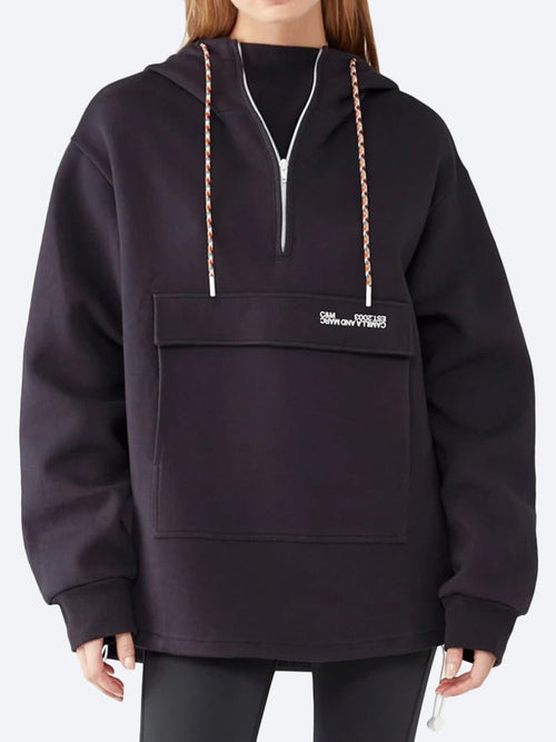 Yeltuor - CAMILLA AND MARC - Tops - CAMILLA AND MARC C&M AURORA BONDED HOODIE - BLUE GRAPHITE -  6