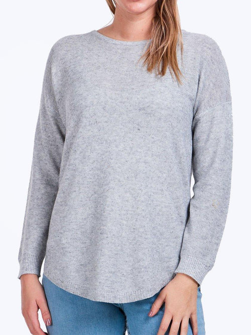 Yeltuor - CAROLINE K MORGAN PTY LTD - Tops - CAROLINE K MORGAN LONG SLEEVE PULLOVER - LIGHT GREY -  8