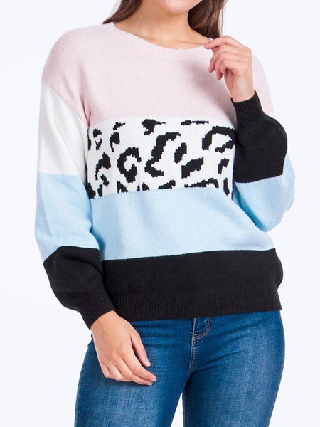 Yeltuor - CAROLINE K MORGAN PTY LTD - Knitwear - CAROLINE MORGAN ANIMAL CONTRAST KNIT -  -