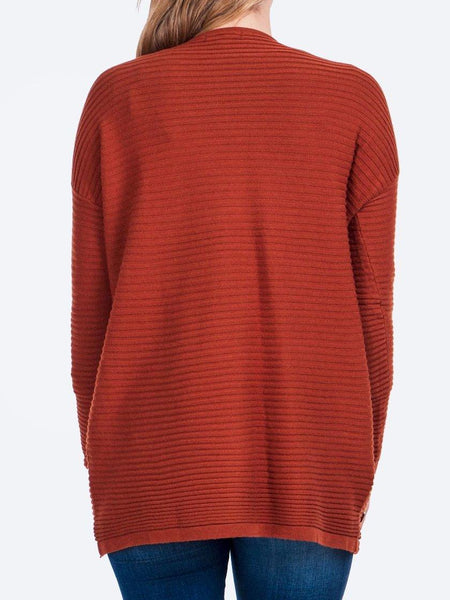Yeltuor - CAROLINE K MORGAN PTY LTD - Knitwear - CAROLINE K MORGAN BUTTON DETAIL RIB JUMPER -  -