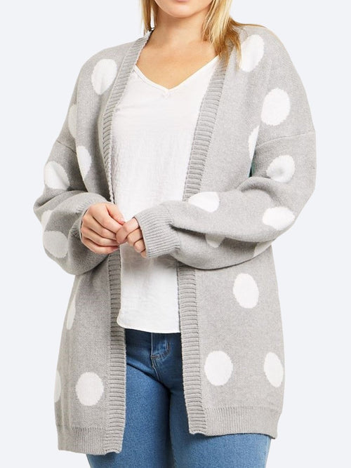 CAROLINE K MORGAN DOT CARDIGAN
