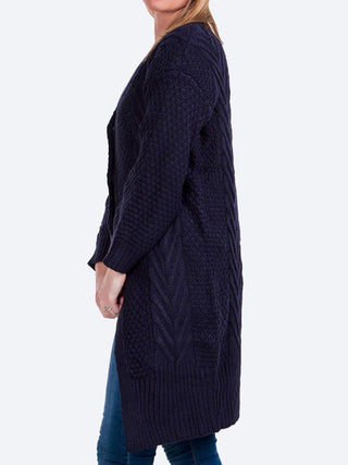 Yeltuor - CAROLINE K MORGAN PTY LTD - Knitwear - CAROLINE K MORGAN LONG SLEEVE CABLE KNIT CARDI -  -