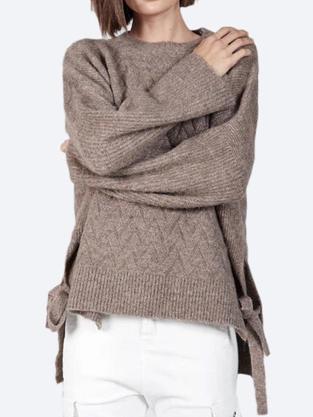 Yeltuor - CONCHITA - Knitwear - CONCHITA SIDE TIE CABLE KNIT -  -