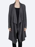 Yeltuor - CONCHITA - Jackets & Coats - CONCHITA WATERFALL CARDI - CHARCOAL -  XS-S