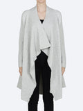 Yeltuor - CONCHITA - Jackets & Coats - CONCHITA WATERFALL CARDI - SILVER -  XS-S