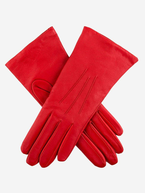 Yeltuor - DENTS - GLOVES - DENTS ISABELLE CASHMERE LINED LEATHER GLOVES - BERRY -  7