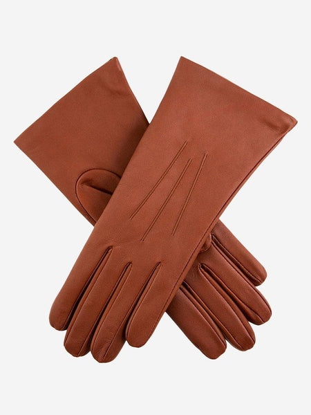 Yeltuor - DENTS - GLOVES - DENTS ISABELLE CASHMERE LINED LEATHER GLOVES - COGNAC -  7