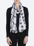 Yeltuor - DIRECTIONS INTERNATIONAL - SCARVES - DIRECTIONS INTERNATIONAL CHECK THE SPOT SCARF - CHARCOAL -  ALL