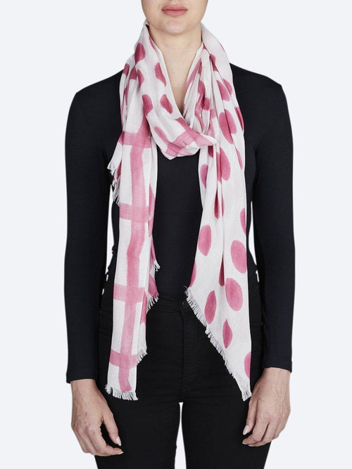 Yeltuor - DIRECTIONS INTERNATIONAL - SCARVES - DIRECTIONS INTERNATIONAL CHECK THE SPOT SCARF - ROSE -  ALL