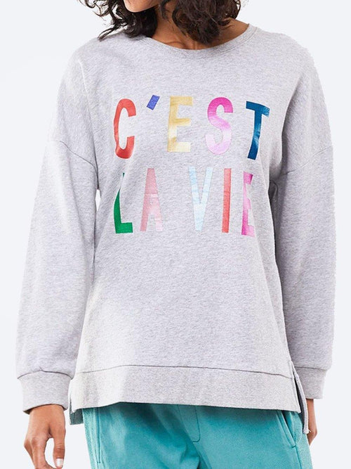 Yeltuor - ELM - Tops - ELM BRILLIANT C'EST LA VIE CREW SWEAT -  -