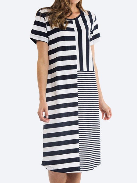 Yeltuor - ELM - Dresses - ELM BACK TO BACK STRIPE DRESS -  -