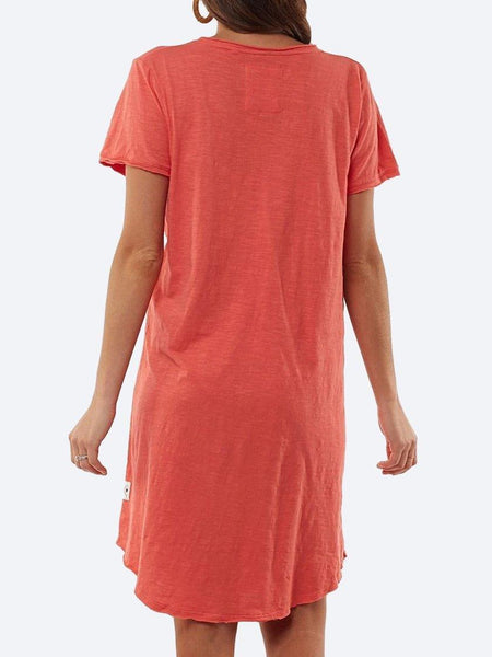 Yeltuor - ELM - Dresses - ELM MARY TEXTURED TEE DRESS -  -