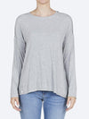 Yeltuor - ELM - Tops - ELM MONICA LONG SLEEVE TEE - GREY MARLE -  8
