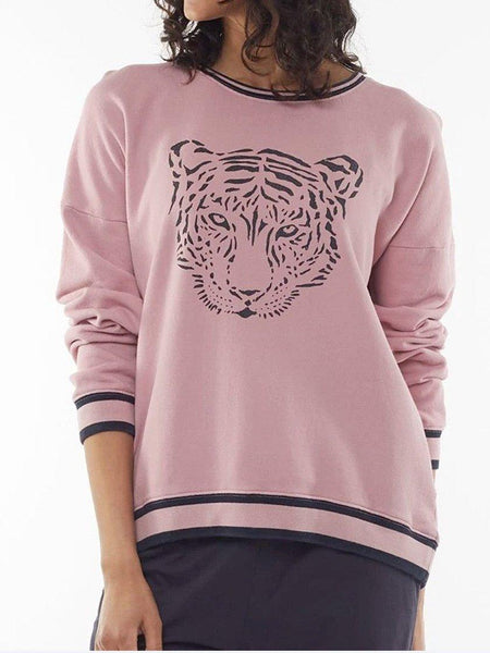 Yeltuor - ELM - Tops - ELM TRIXIE TIGER CREW SWEAT -  -