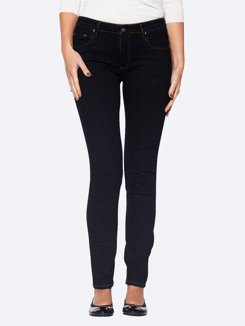 Yeltuor - ZIP - Jeans - GABRIELLA FRATTINI STITCH POCKET JEAN - BLACK -  8