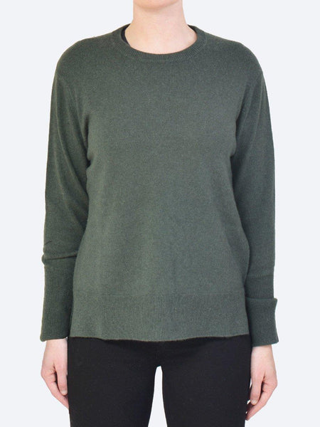 Yeltuor - JAMES MELBOURNE - Knitwear - JAMES MELBOURNE CASHMERE CREW - HUNTER -  XS