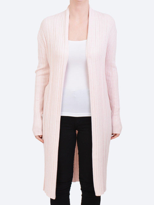 Yeltuor - JAMES MELBOURNE - Knitwear - JAMES MELBOURNE COTTON PLEAT CARDIGAN - PINK -  S
