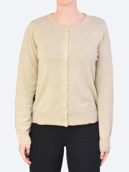 Yeltuor - JAMES MELBOURNE - Knitwear - JAMES CASHMERE PERFECT CARDI - NOUGAT -  XS