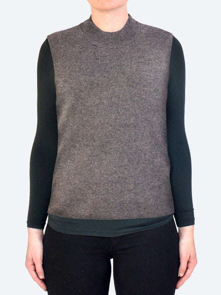 Yeltuor - JAMES MELBOURNE - Knitwear - JAMES MELBOURNE CASHMERE VEST - ASH -  XS