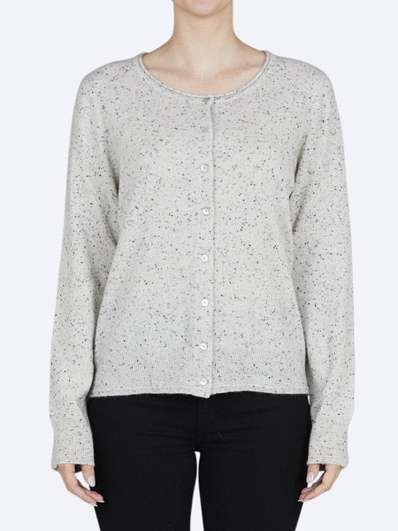 Yeltuor - JAMES MELBOURNE - Knitwear - JAMES CASHMERE PERFECT CARDI - MARLE FLECK -  XS