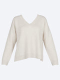 Yeltuor - JAMES MELBOURNE - Knitwear - JAMES MELBOURNE CASHMERE/WOOL RIB V-NECK -  -