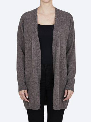 Yeltuor - JAMES MELBOURNE - Knitwear - JAMES MELBOURNE LONGLINE RIB CARDIGAN - ASH -  XS