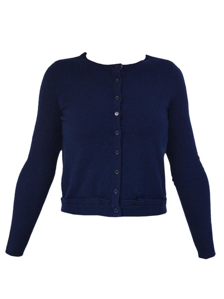 Yeltuor - JAMES MELBOURNE - Knitwear - JAMES MELBOURNE ESSENTIAL CARDIGAN - GOODNIGHT NAVY -  XS