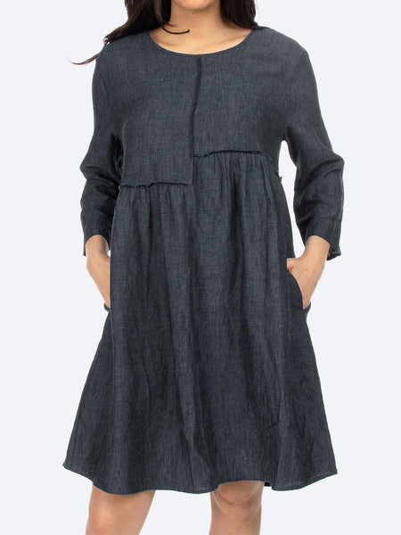 Yeltuor - JUMP - Dresses - JUMP FRAYED SEAM LINEN DRESS -  -