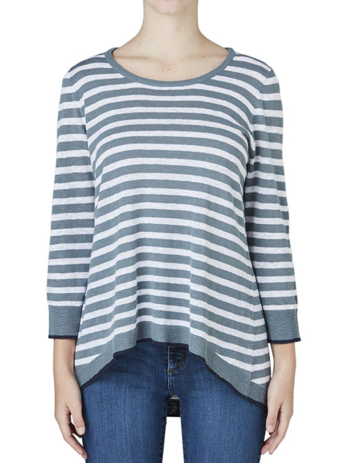 Yeltuor - JUMP - Knitwear - JUMP LINEN COTTON STRIPE KNIT -  -