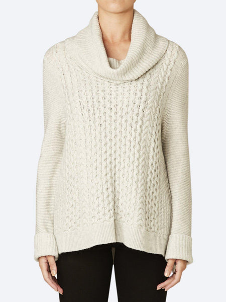 JUMP CABLE HIGH NECK KNIT