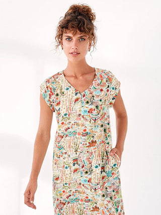 Yeltuor - LAYER'D - Dresses - LAYER'D PRINT MALA TEE DRESS -  -