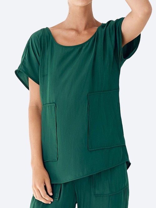 Yeltuor - LAYER'D - Tops - LAYER'D ANPASSA TOP - EMERALD -  8