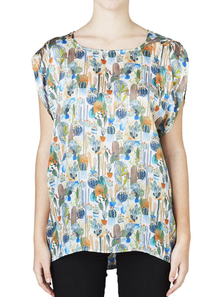 Yeltuor - LAYERED - Tops - LAYER'D KAKTUS SILK TEE -  -